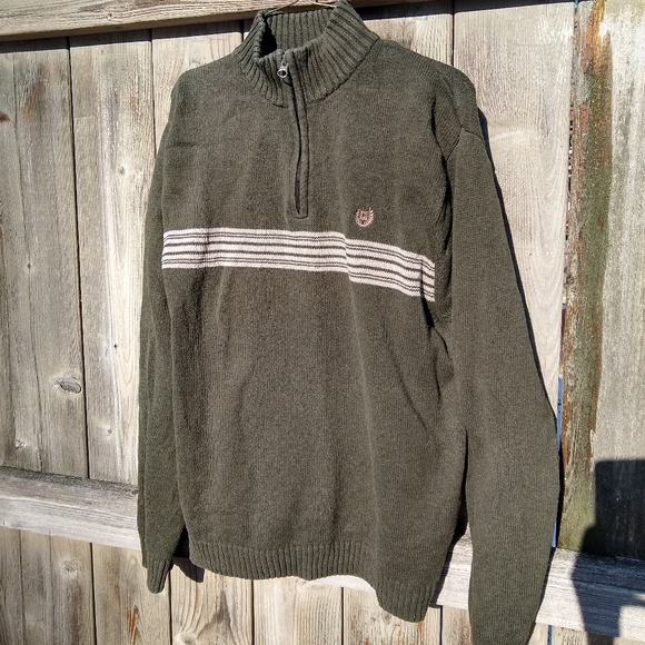 Chaps Other - Chaps Olive Green 1/4 Zip Sweater